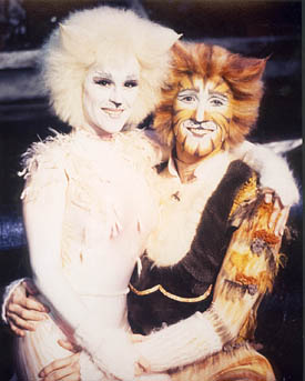 Tamera Christine Shepherd as Victoria from the CATS Tour and Ryan Shepherd as Skimbleshanks from the CATS Tour